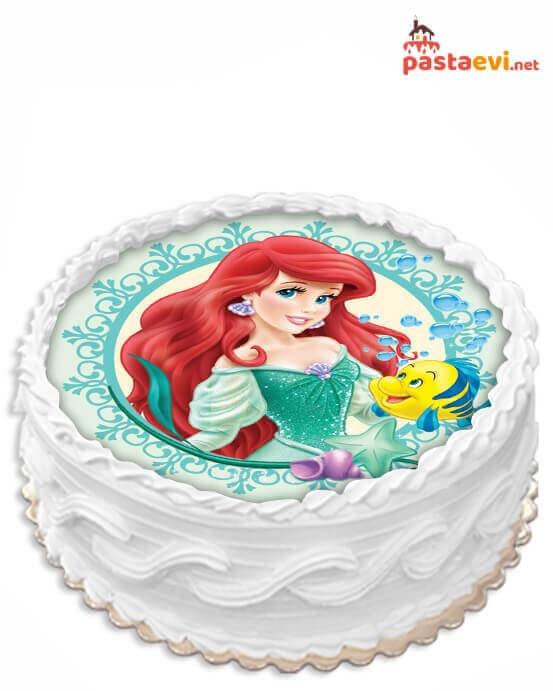Ariel Deniz Kızı Resimli Pasta