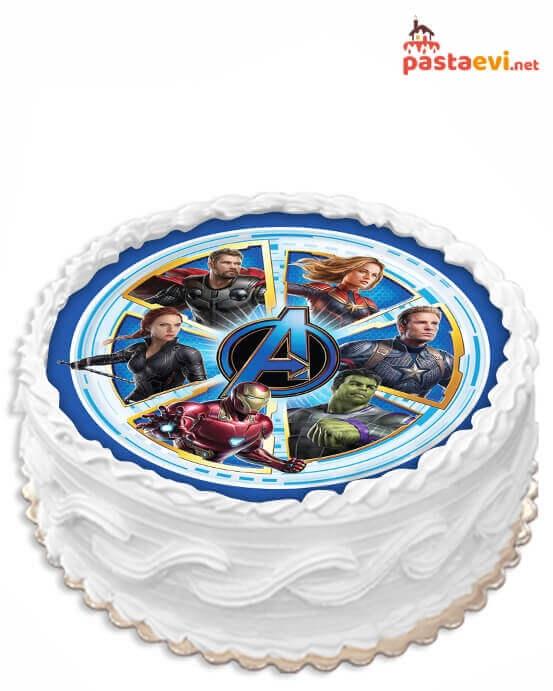 Avengers Kahraman Resimli Pasta