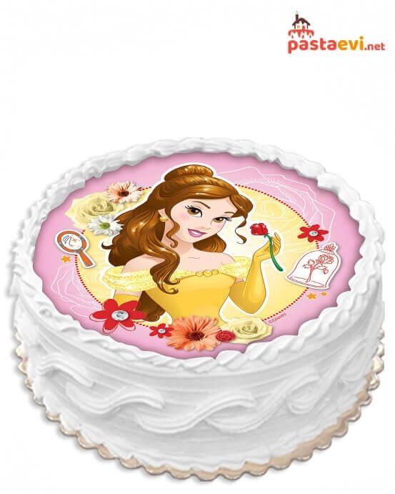 Güzel ve Çirkin Belle Resimli Pasta