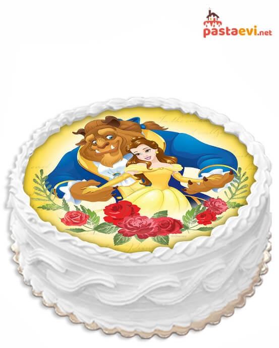 Güzel ve Çirkin Resimli Pasta