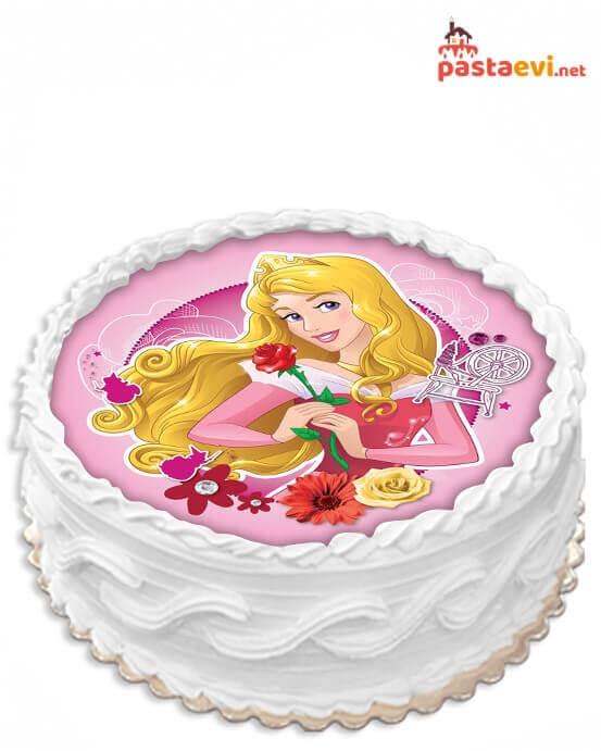 Disney Uyuyan Güzel Resimli Pasta