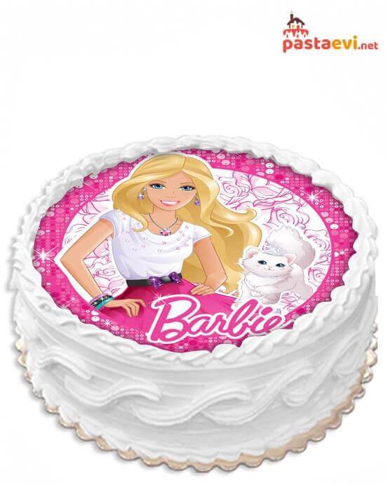 Barbie Resimli Pasta