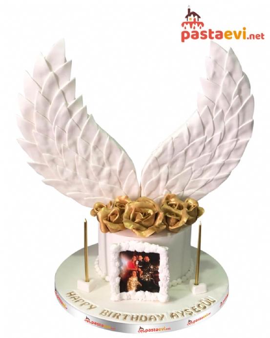 Melek Kanatlı Sevgili Pastası