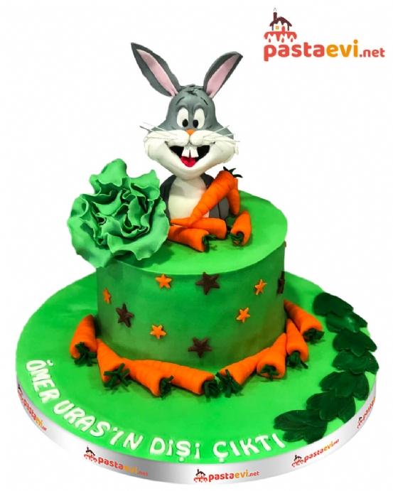 Tavşan Temalı Diş Buğdayı Pastası