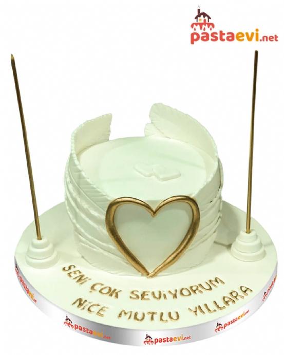 Melek Kalbi Doğum Günü Pastası