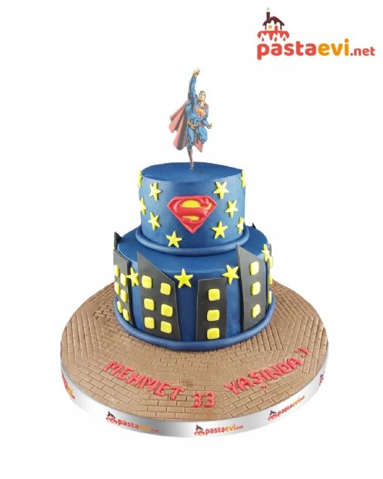 Süperman Yaş günü Pastası