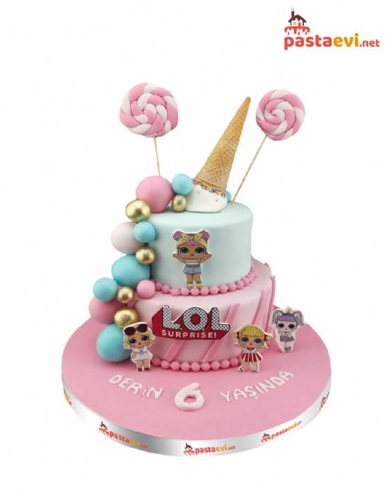 Şekerli Lol Bebekleri Yaş Günü Pastası