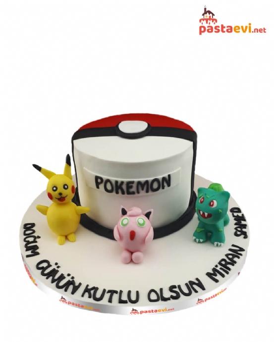 Pokemonlar Doğum Günü Pastası