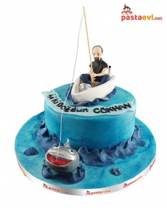Kaptanlı Doğum Günü Pasta
