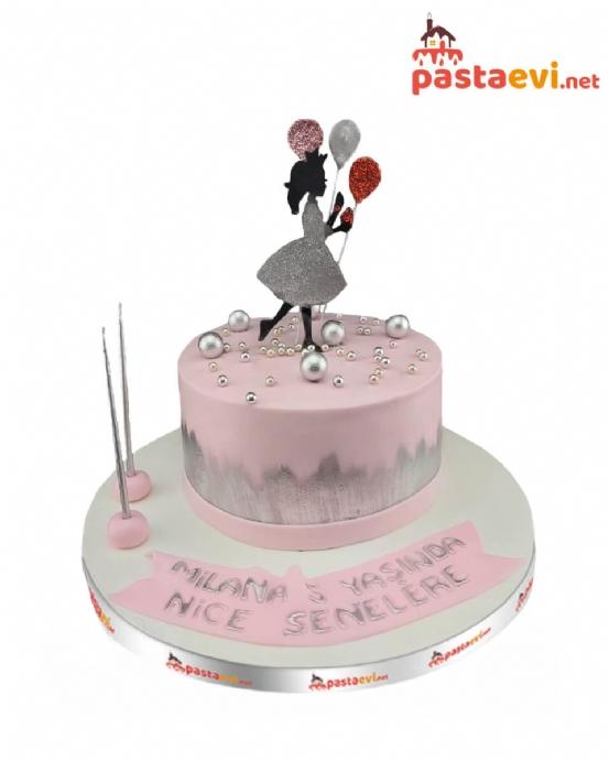 Balonlu Prenses Pastası