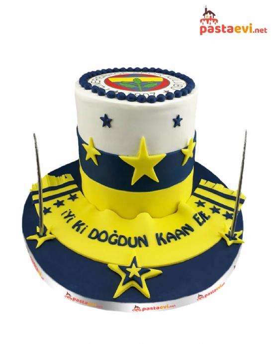 Fenerbahçe Logolu Doğum Günü Pastası
