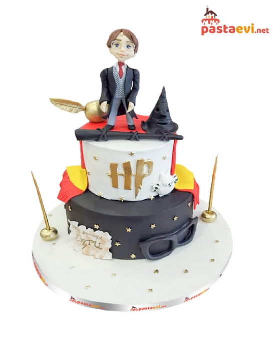Harry Potter Tasarımlı Pasta