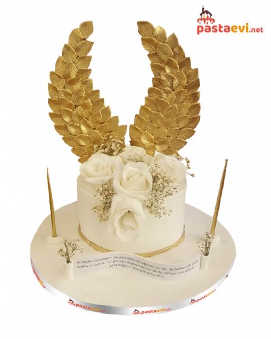 Altın Kanatlı Özel Tasarım Pasta