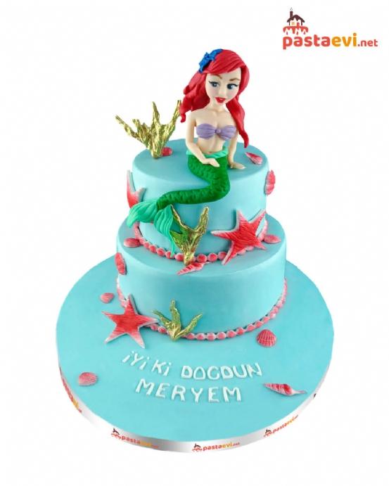 Sevimli Deniz Kızı Doğum Günü Pastası