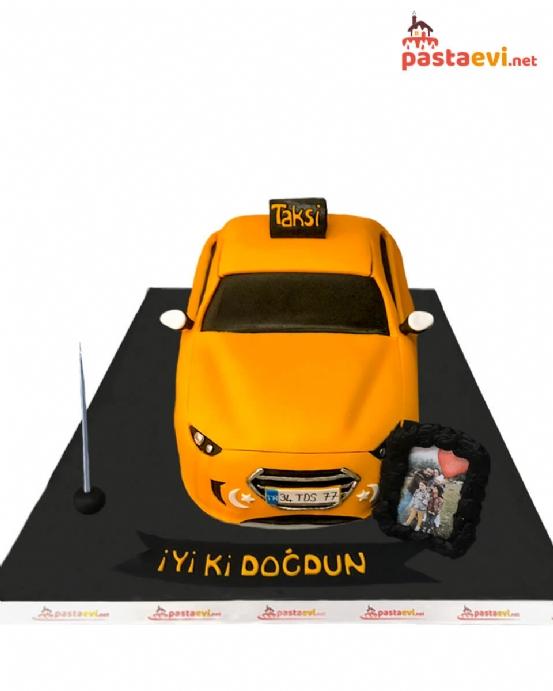 Taksi Temalı Butik Pasta