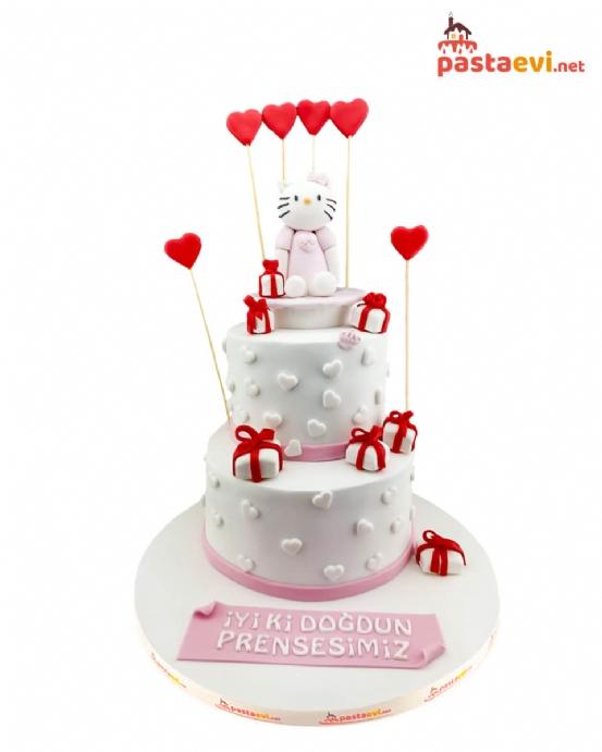 Hello Kitty Doğum Günü Pastası