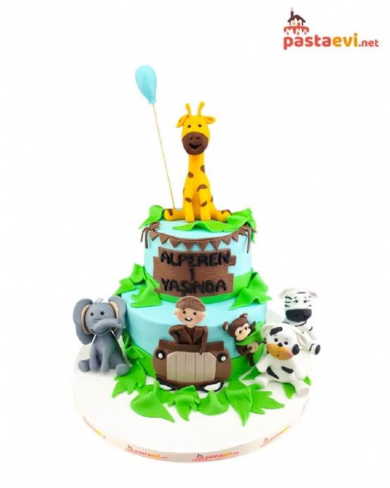 Safari Arabası Doğum Günü Pastası