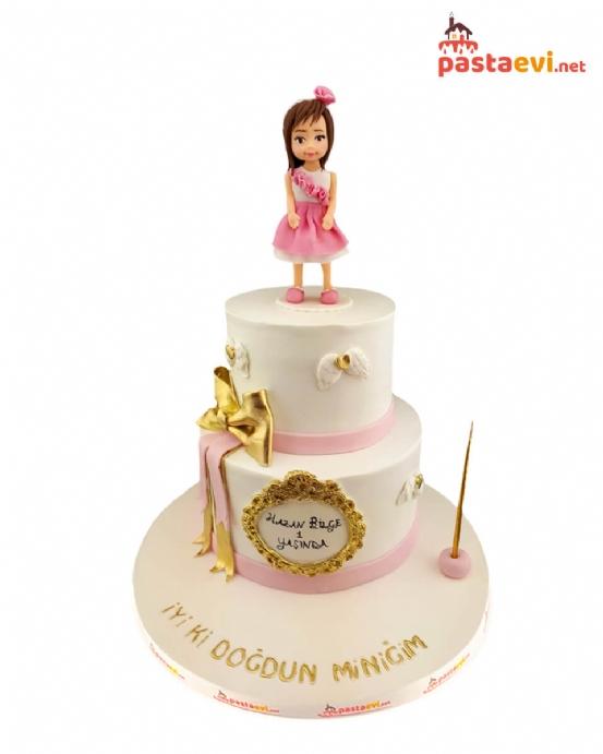 Sevimli Genç Kız Doğum Günü Pastası