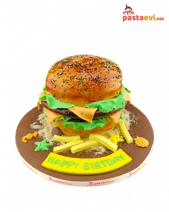 Hamburger Tasarımlı Butik Pasta