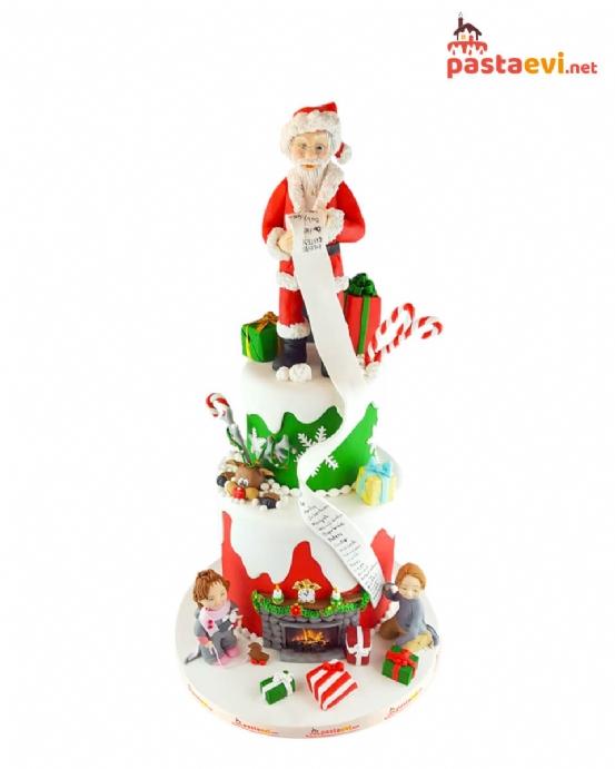 Noel Baba Tasarımlı Butik Pasta
