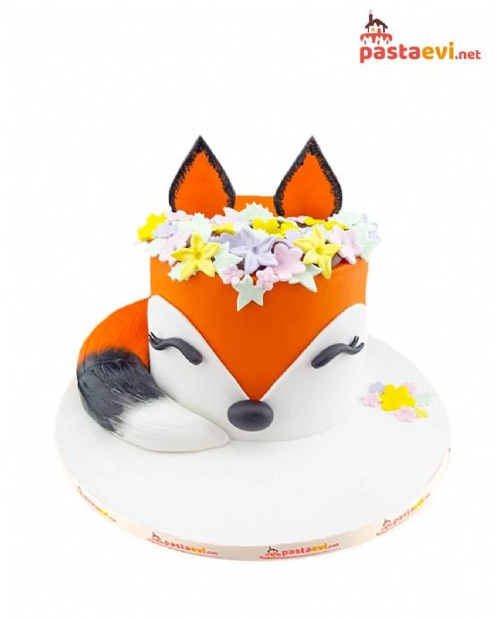 Tilki Temalı Doğum Günü Pastası
