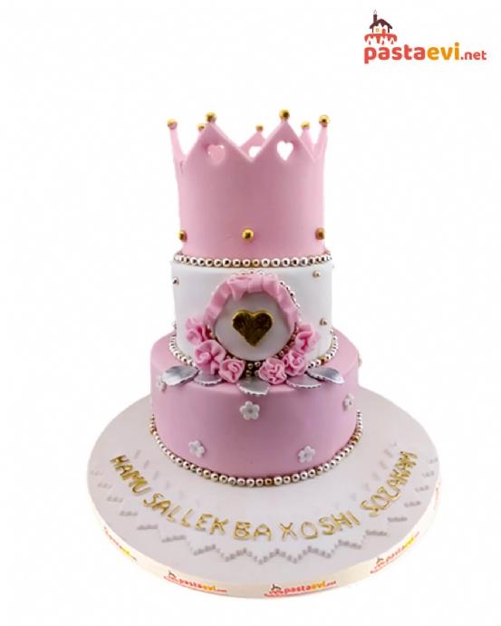 Taçlı Prenses Doğum Günü Pastası